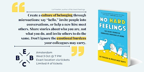 EBBC Amsterdam - No Hard Feelings: The Secret Power of Emotions at Work tickets