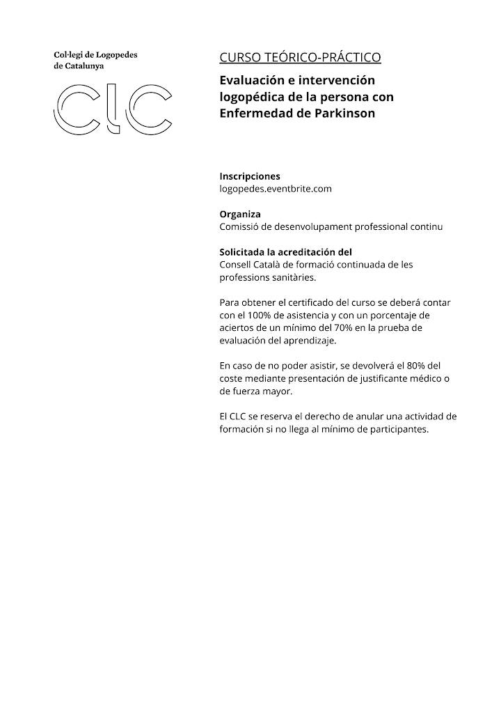 Imagen de Evaluación e intervención de la persona con enfermedad de Parkinson