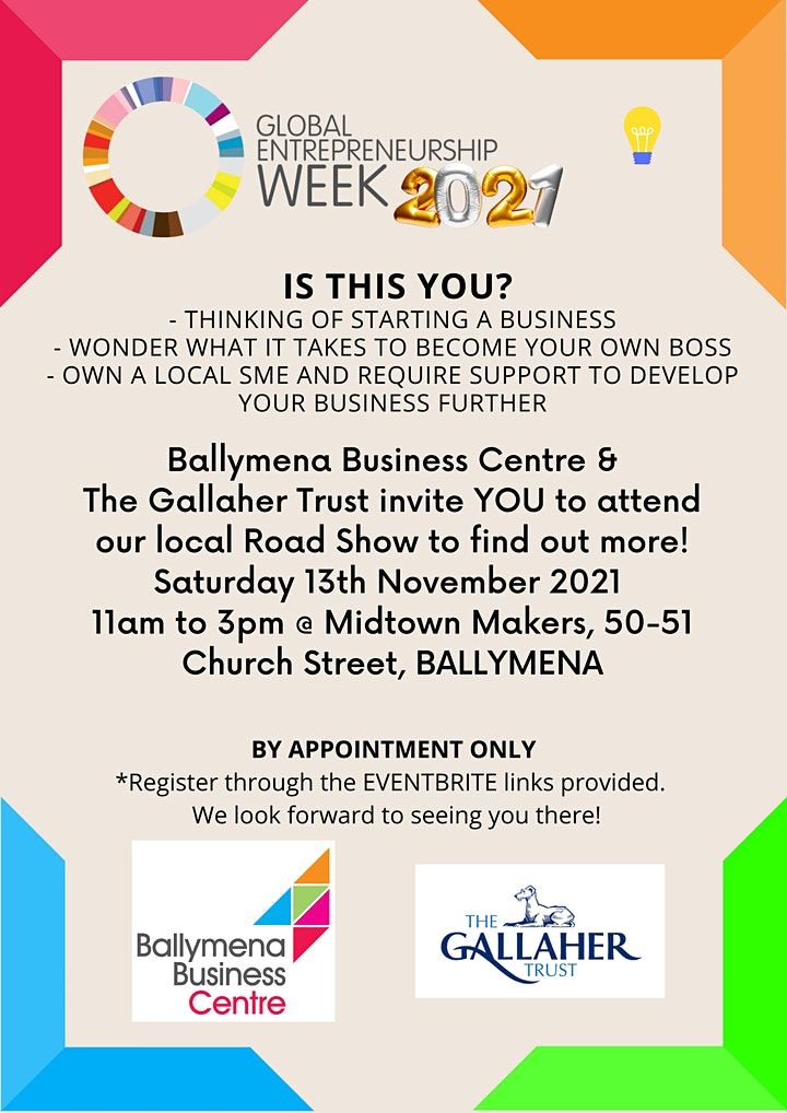 GEW Road Show with Ballymena Business Centre & The Gallaher Trust image