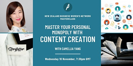 Masterclass: Master Your Personal Monopoly with Content Creation tickets