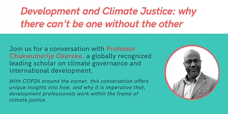 Development and Climate Justice: why there can't be one without the other tickets
