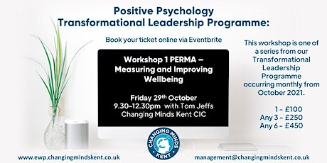 Positive Psychology Workshop 1: PERMA – Measuring & Improving Wellbeing tickets