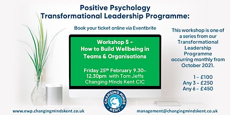 Positive Psychology Workshop 5: Building Wellbeing in Teams & Organisations tickets
