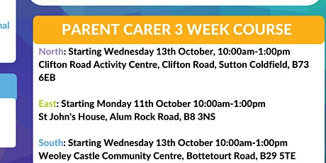Parent Carer Three week Course- Weoley Castle Community Centre tickets