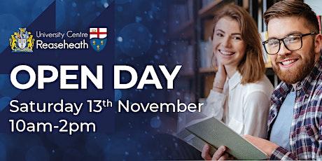 Open Day - November 2021 tickets