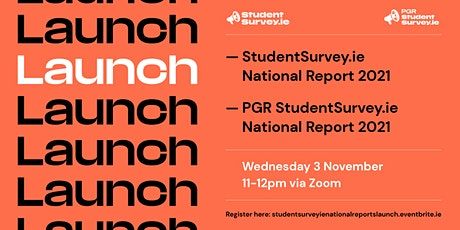 StudentSurvey.ie National Reports 2021 - Launch tickets
