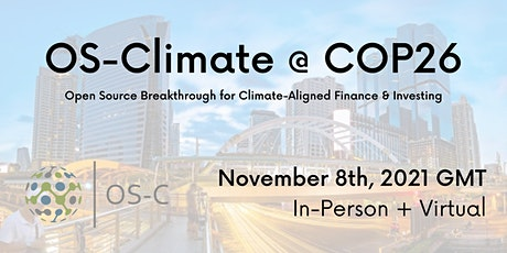 OS-Climate @ COP26 2021 tickets