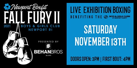 Newport Boxfit Fall Fury II Exhibition Boxing - CLICK TICKETS FOR DONATIONS tickets