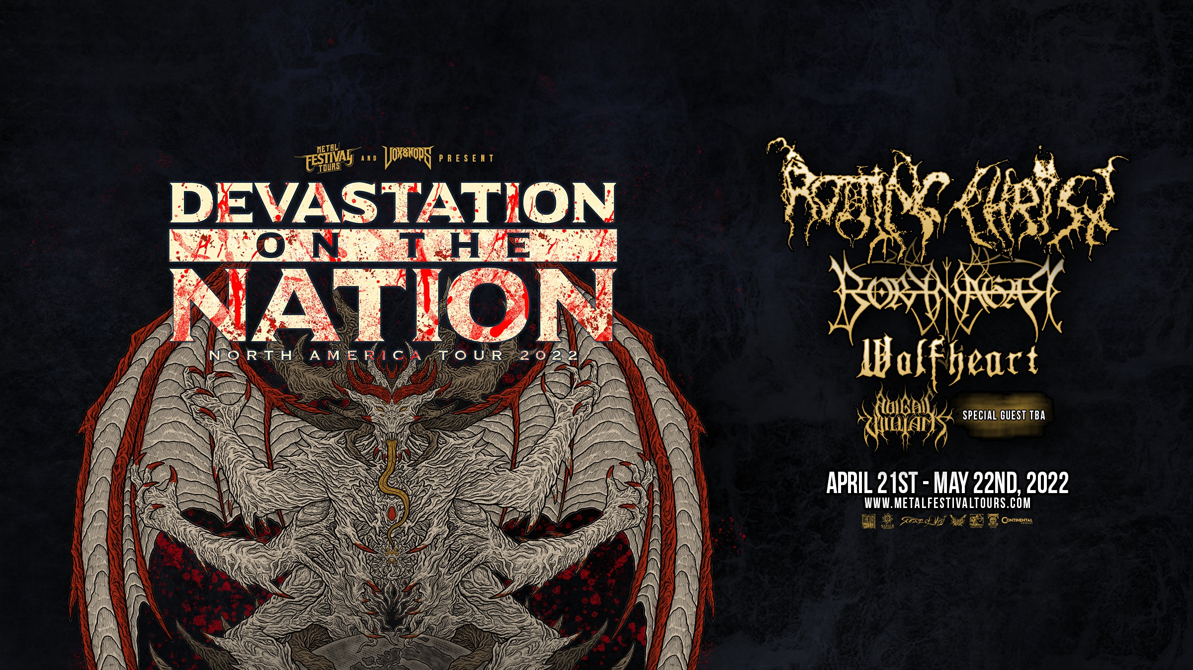 Devastation on the Nation 2022: Rotting Christ, Borknagar, Wolfheart, Abigail Williams, and more in Tampa at the Orpheum