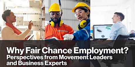 Why Fair Chance Employment? tickets