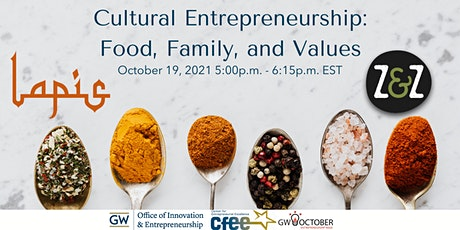 Cultural Entrepreneurship: Food, Family, and Values tickets