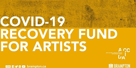 COVID Recovery Fund for Artists Information Session tickets