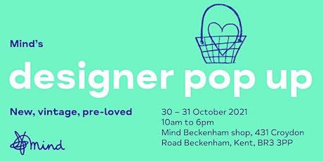 Mind's designer pop up - Beckenham Shop tickets