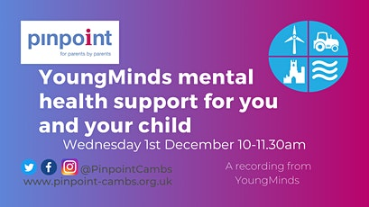 YoungMinds mental health support for you and your child tickets