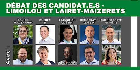Débat des candidat.e.s – Limoilou et Lairet-Maizerets billets