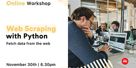 [Free, online workshop] Web Scraping with Python tickets