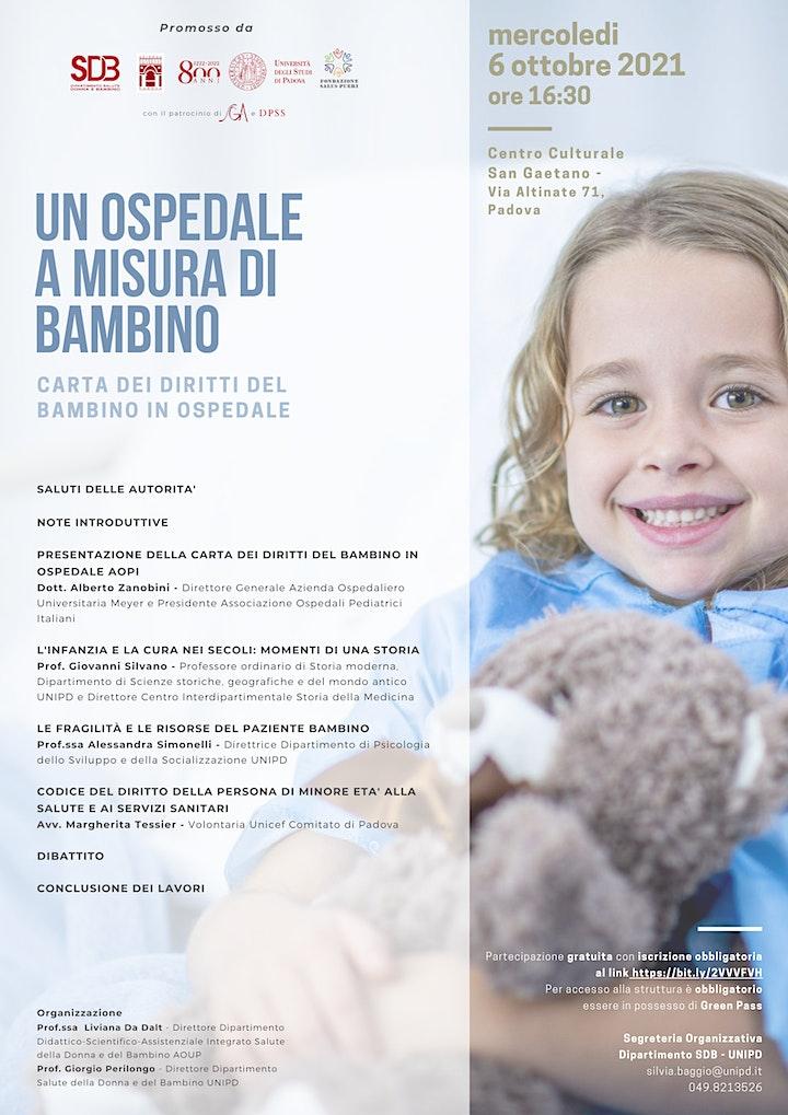 Immagine UN OSPEDALE A MISURA DI BAMBINO - Carta dei Diritti del Bambino in Ospedale