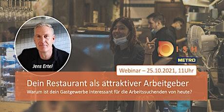 DISH Live-Webinar: Dein Restaurant als attraktiver Arbeitgeber Tickets