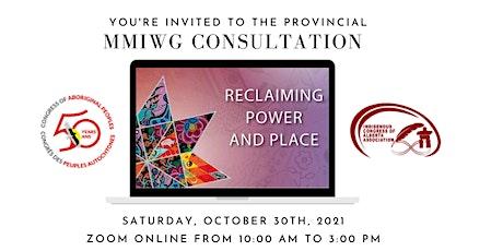 Provincial MMIWG Consultation tickets