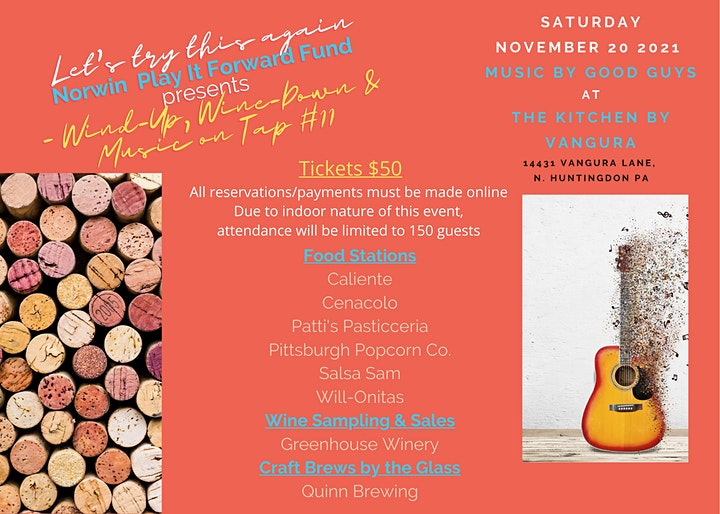 Norwin Play It Forward Fund Presents Wind-Up/Wine Down & Music on Tap #11 image