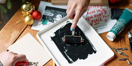 Design Your Own Christmas Cards and Wrapping Paper Using Lino Printing tickets
