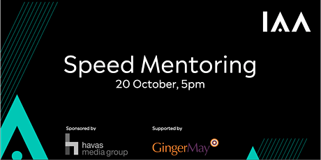 IAA UK Speed Mentoring - Wednesday October 20th at 5 pm tickets