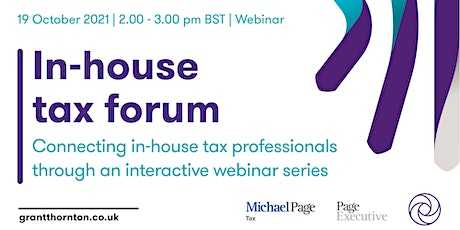 In House Tax Forum  - 19th October tickets
