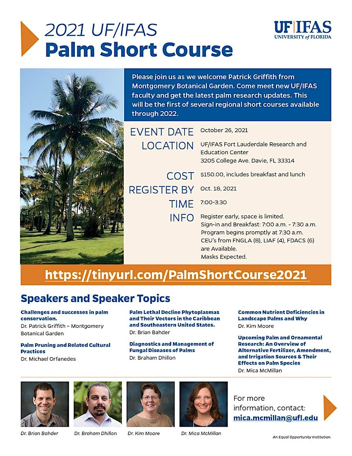 UF/IFAS Palm Short Course image