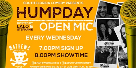 Hump Day Comedy Open Mic | Wednesdays at Mathews Brewing Co. tickets