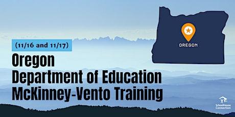Oregon Department of Education McKinney-Vento Training (11/16 & 11/17) tickets