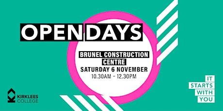 Kirklees College November Open Day - Brunel Construction Centre tickets