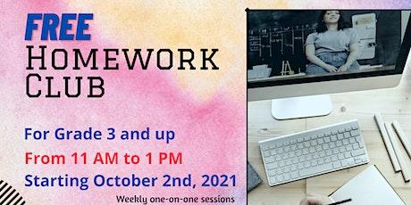 Free Homework Club tickets