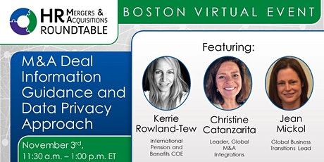 M&A Deal Information Guidance and Data Privacy Approach - Boston tickets