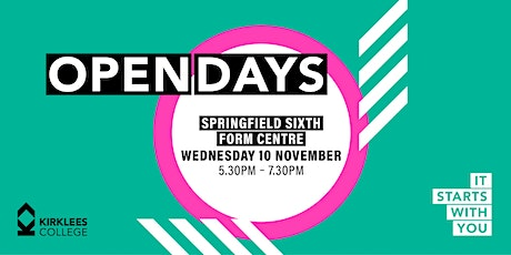 Kirklees College November Open Day - Springfield Sixth Form Centre tickets