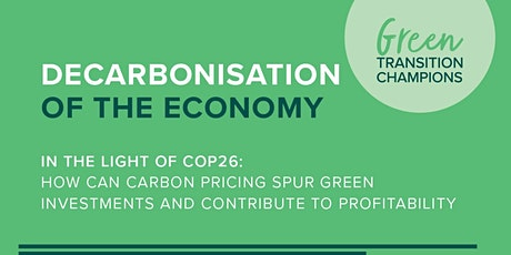 COP26 - How carbon pricing spur green investments and profitability tickets