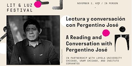 Lectura y conversación con Pergentino José tickets