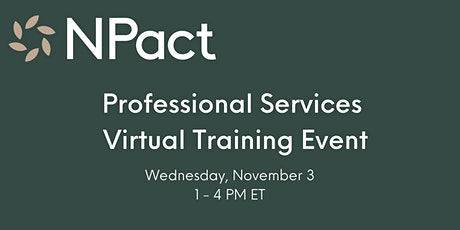 NPact Professional Services Virtual Training Event tickets