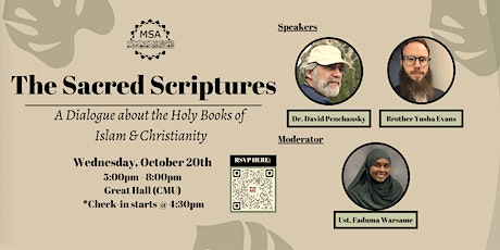 The Sacred Scriptures: A Dialogue About the Holy Book tickets