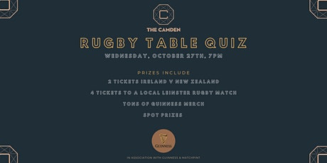 The Big Rugby Table Quiz at The Camden tickets