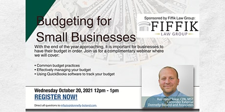 Small Business Guide to Budgeting | Presented by Donnelly-Boland tickets