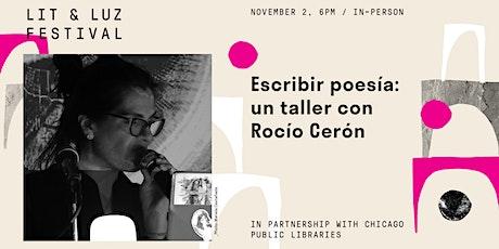 Taller de poesía con Rocío Cerón tickets