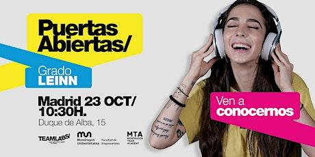 LEINN/ PUERTAS ABIERTAS MADRID [23 OCT | 10H30] entradas
