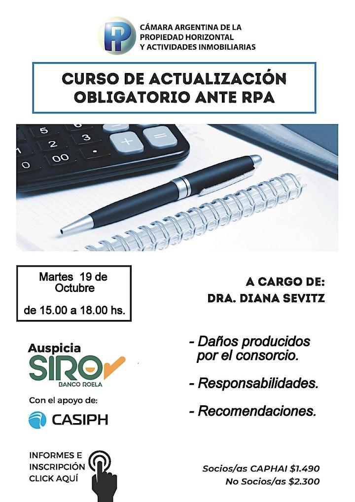 Imagen de Curso de Actualización obligatorio para renovar matrícula RPA