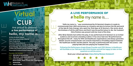 """A live performance of Hello, """"My Name is...""""  (FREE Webinar) tickets"""