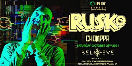 Rusko | IRIS ESP 101 | Saturday, October 23rd - LESS THAN 75 TIX LEFT tickets
