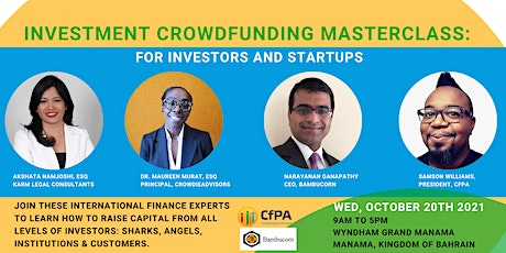 Investment Crowdfunding Masterclass - For Investors and Startups (Bahrain) tickets