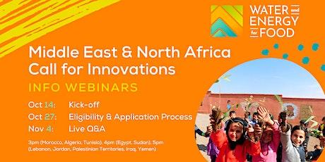 MENA 2021 Call for Innovations Webinar Series tickets