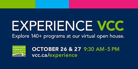 Experience VCC Fall 2021 Virtual Open House tickets