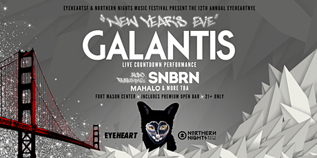 New Year's Eve with Galantis (LIVE) + SNBRN in San Francisco + Open Bar tickets
