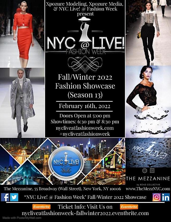 """NYC Live! @ Fashion Week"" Fall/Winter 2022 Fashion Showcase (Season 13) image"